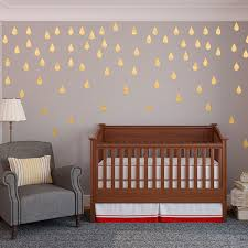 Decals For Walls Nursery 50pcs Package Drops Vinyl Wall Decals Gold Confetti Drops