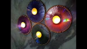 Diwali Decoration Home Ideas by Diwali Decor Idea Using Old Cd Multipurpose Decor Recycled Craft