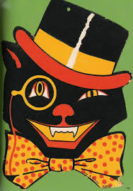 vintage halloween illustration cat curiosities pinterest