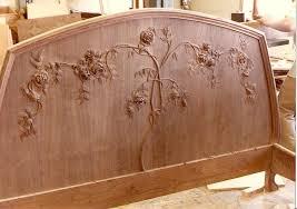 Custom Art Nouveau Mahogany Bed By Hercules Custom Furniture Inc - Art nouveau bedroom furniture