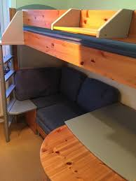 stompa single high sleeper bunk bed with sofa bed u0026 desk home