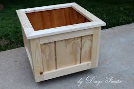wood planter box with trellis diy wooden planter boxes