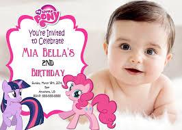 my little pony birthday custom invitations partyexpressinvitations