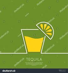 glass tequila lemon cocktail party menu stock vector 272681186