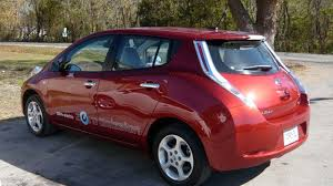 nissan leaf spare tire first take getting whiplash driving the nissan leaf roadshow
