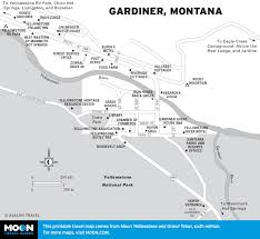 Montana River Map by Gardiner Year Round Gateway To Yellowstone Moon Com