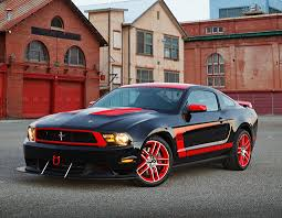 2012 Black Ford Mustang 2012 Ford Mustang Boss 302 Laguna Seca Edition Black And Red 3 4