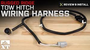 jeep wrangler rugged ridge tow hitch wiring harness 2007 2017 jk