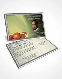 2 page grad fold funeral program template brochure golden leaf