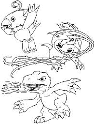 printable agumon friends coloring kids coloring pages