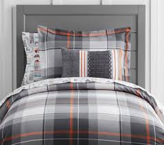 organic plaid quilt cover pottery barn kids