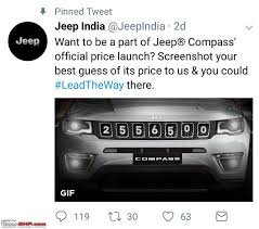 white jeep compass meeting the jeep compass edit priced between 14 95 to 20 65