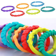 baby plastic rings images 24pcs plastic hook infant teether baby toys colorful rainbow rings jpg