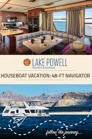 the navigator deluxe houseboat available for rent at lake powell