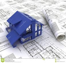 blue prints house blue print of a house stock images image 20499254