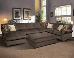 U Sofas Furniture Solid Grey U Shaped Oversized Sectionals Sofa For