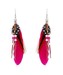 feather earrings online buy jeweltouch plum feather earrings online at low prices in