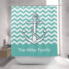 Nautical Anchor Shower Curtain Personalized Shower Curtains Mimogifts