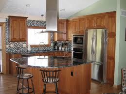 kitchen attractive natural kitchen decor with grey mosaic tile