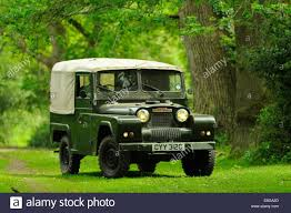 gypsy jeep an austin gypsy classic 4x4 stands in a woodland clearing stock