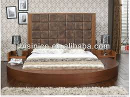 Solid Wood Contemporary Bedroom Furniture by Contemporary Round Bed With Solid Wood Frame Bedroom Furniture