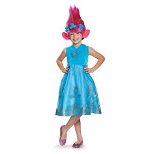 troll for halloween trolls poppy deluxe costume with wig buycostumes com