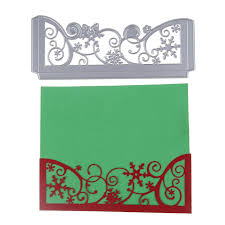 envelope border pattern christmas envelope border metal die cutting album decoration