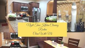 clean with me night time kitchen cleaning routine cleaning
