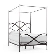queen canopy bed st lucia queen canopy bed in rust arhaus furniture