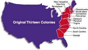 colonial map original thirteen colonies united states original 13 colonies map