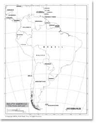 map of and south america black and white political outline map of south america available as poster print