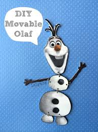 frozen olaf craft jointed olaf figure lalymom