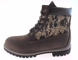 classic timberland e dk brown camo insulated boots multiples mens