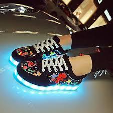 light up shoes for adults men scrawl unisex led light up usb sneaker women men lace up sportswear