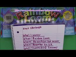 rainbow loom giveaway thanksgiving
