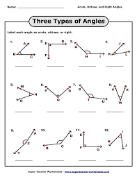 naming triangles worksheet three types of angles