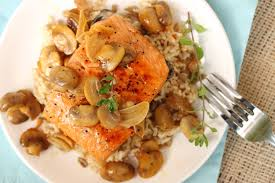 marsala cuisine salmon marsala with mushrooms and brown rice coupon clipping cook