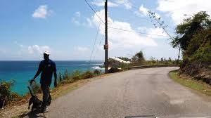 driving in antigua shirley heights to curtain bluff via fig tree