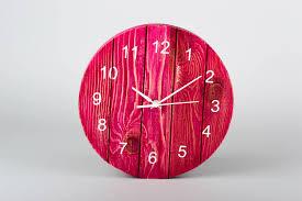 madeheart u003e handmade wooden wall clock designer wall clocks