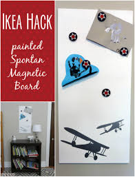 IKEA Hack The Spontan Magnetic Board Painted And Beautified - Magnetic boards for kids rooms