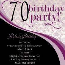 70 birthday invites image collections invitation design ideas