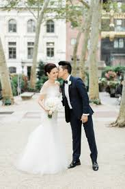 chic nyc wedding at the park restaurant bridal photography