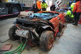 national corvette museum sinkhole 1984 ppg pace car recovered from corvette museum sinkhole gm
