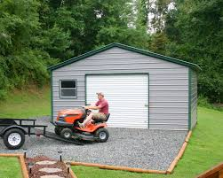 Garage With Carport Carports Double Garage With Carport Metal Canopy Shed Double