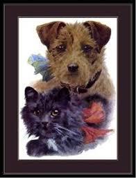 english picture print saint st bernard family dog dogs puppy