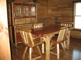 Red Kitchen Table And Chairs Rustic Log Dining
