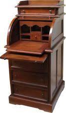 top office bureau roll top home office furniture ebay