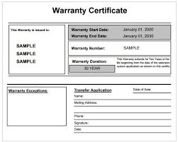 warranty certificate template free word templates