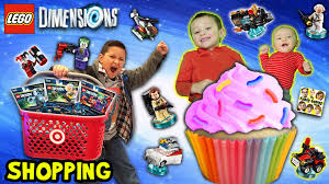 fgteev shopping lego dimensions and cupcakes target stores