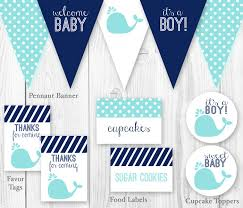 baby shower whale theme whale baby shower package blue navy por hautechocolatefavors